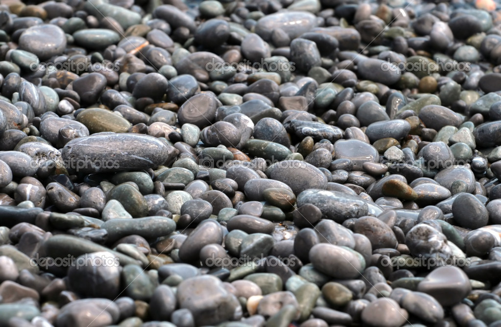 Sea peeble stones background