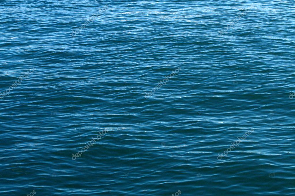 Deep blue water surface