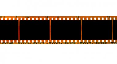 35mm filmstrip on white background