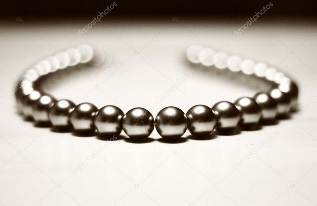 Beautiful mtyall beads for women on white background