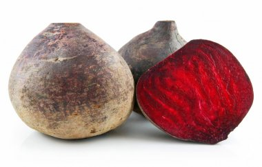 Ripe Sliced Beet Isolated on White
