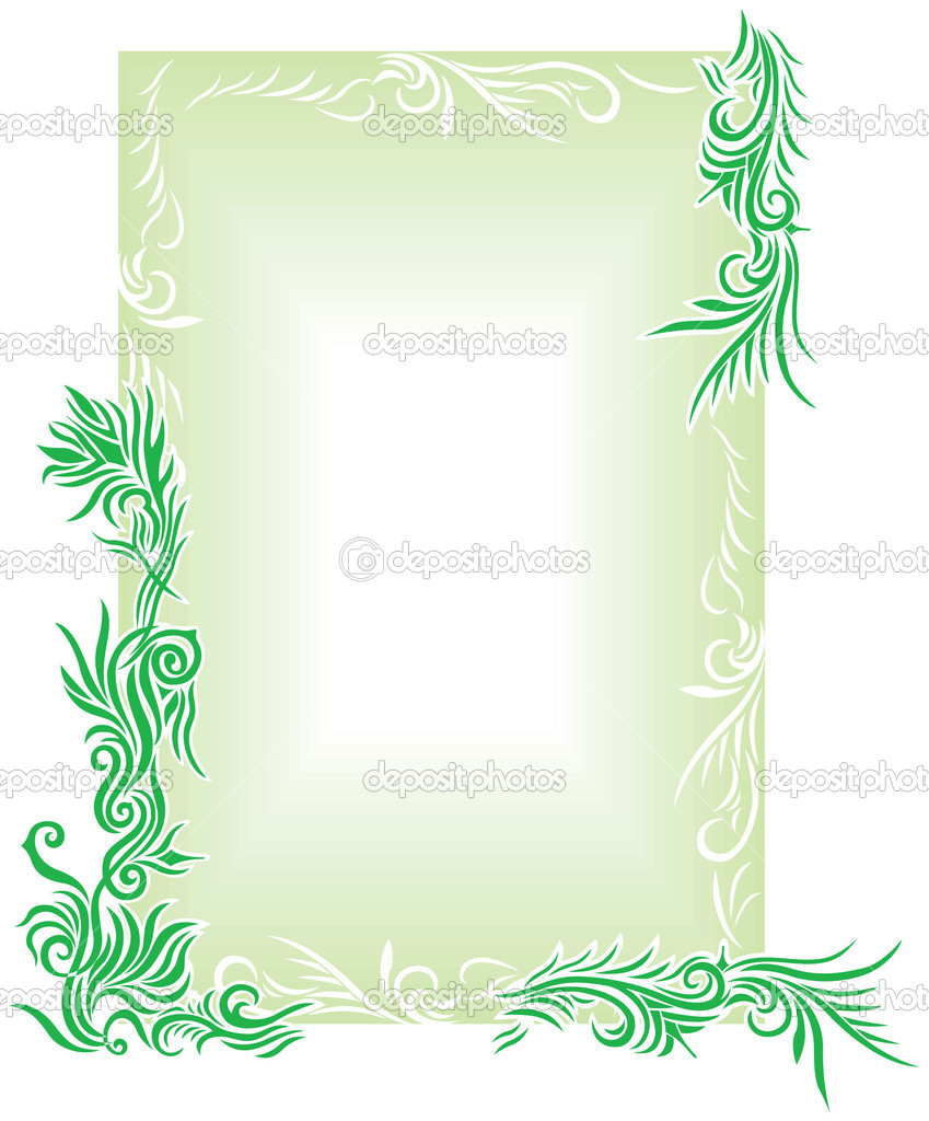 Green Floral Border2