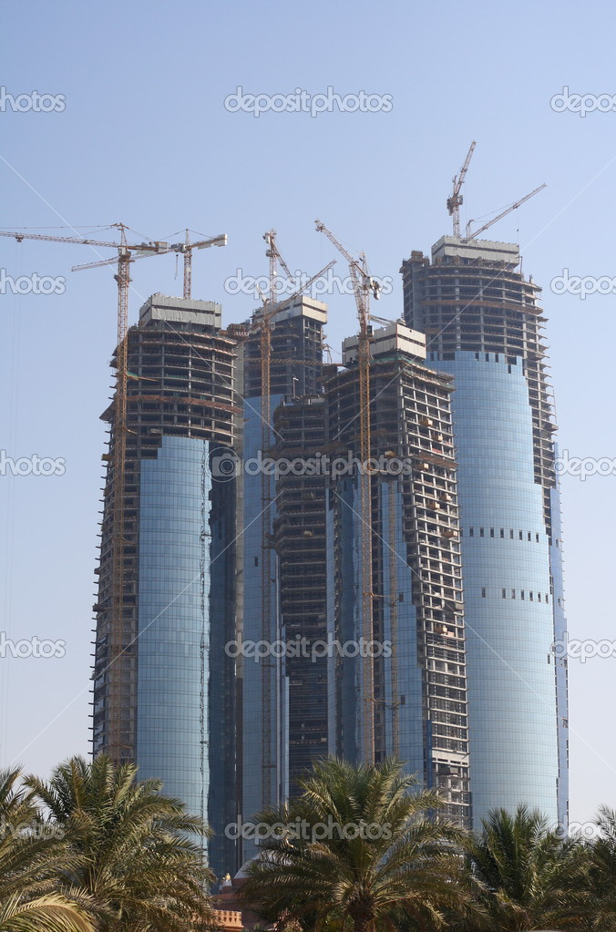 Abu Dhabi skyline building at day