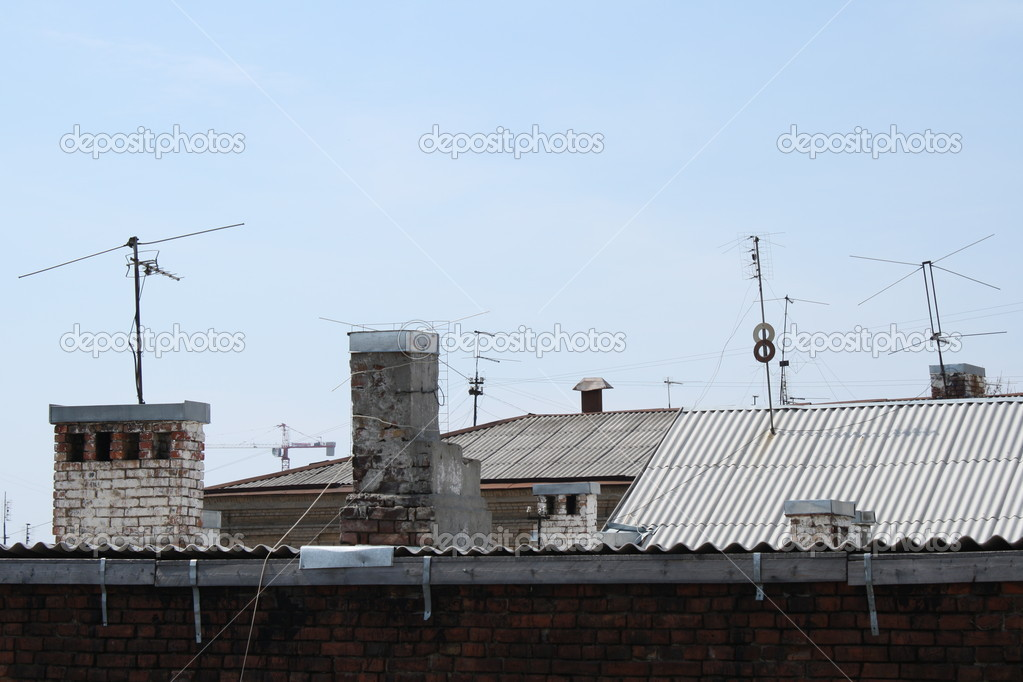 картинки крыш домов с антеннами рецепт