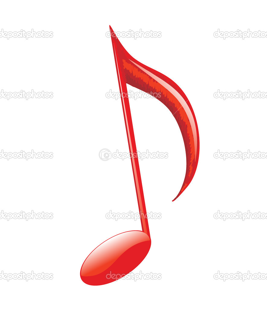 musical note stock vector ghenadie 1997491 rh depositphotos com Music Notes Background Music Note Icon