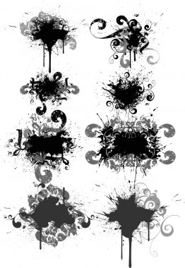 Set of grunge vector illustrations