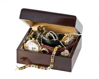 Box with jewels
