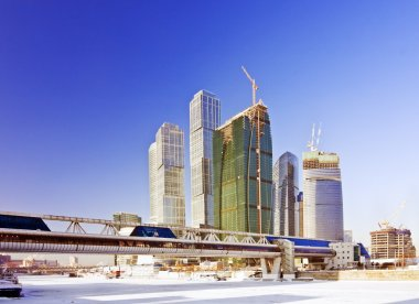 Moscow City complex under construction