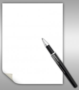 The pen and paper clean sheet