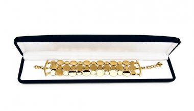 Gift case with a gold bracelet