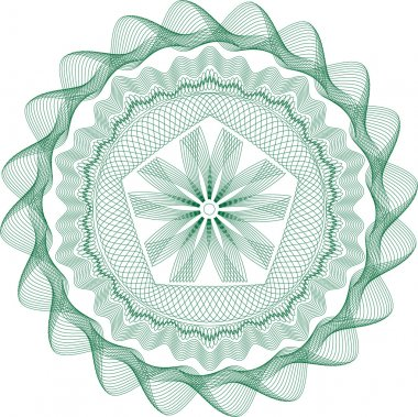 Guilloche rosette vector pattern