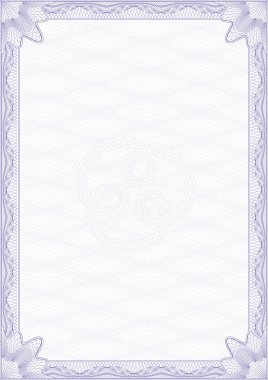 Guilloche style blank certificate