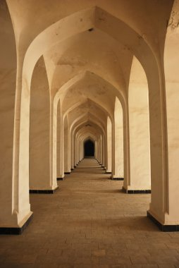 Columns of ancient mosque in Bukhara