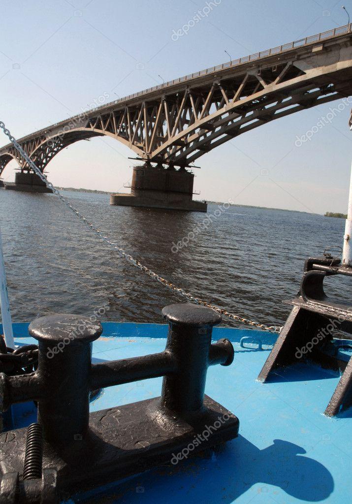 Bridge through the river Volga
