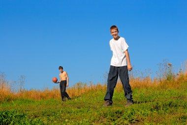 Boys outdoor