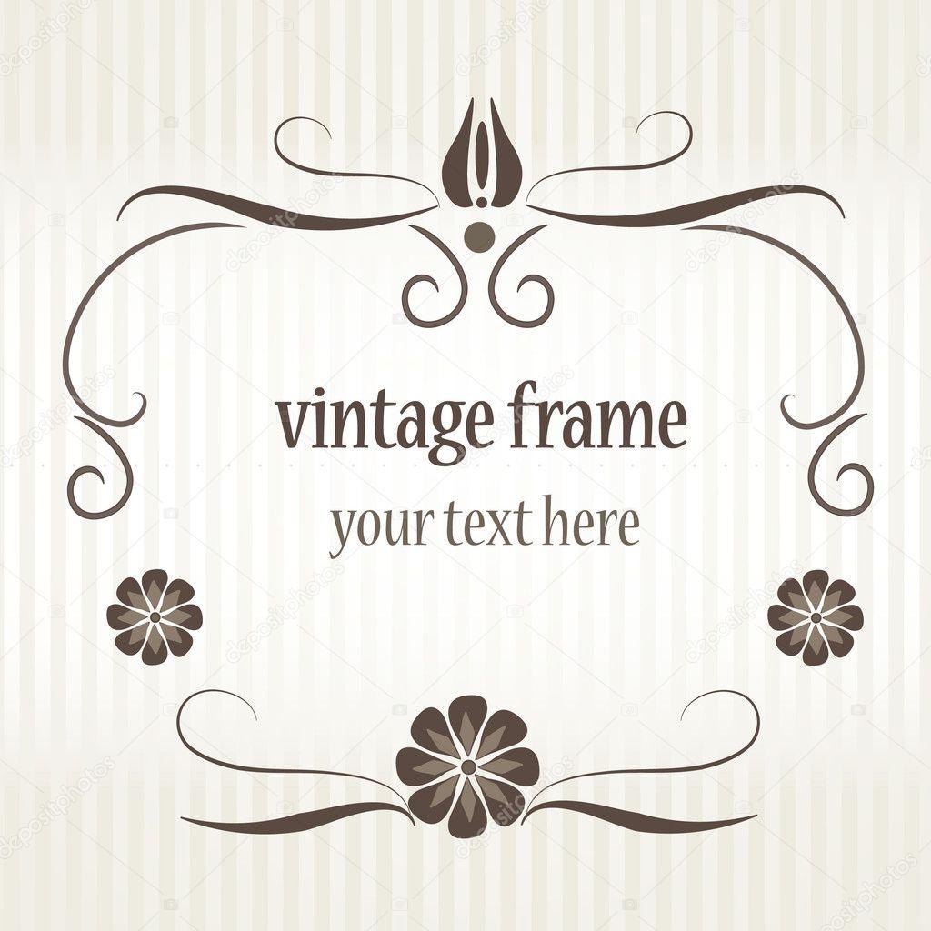 Vintage marco para la tarjeta de felicitación — Archivo Imágenes ...
