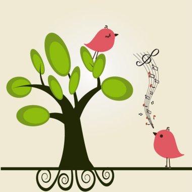 Love song. Vector illustration. stock vector