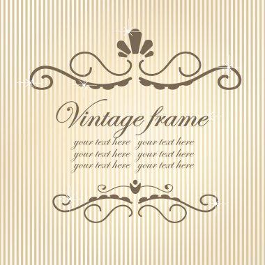 Vintage frame.