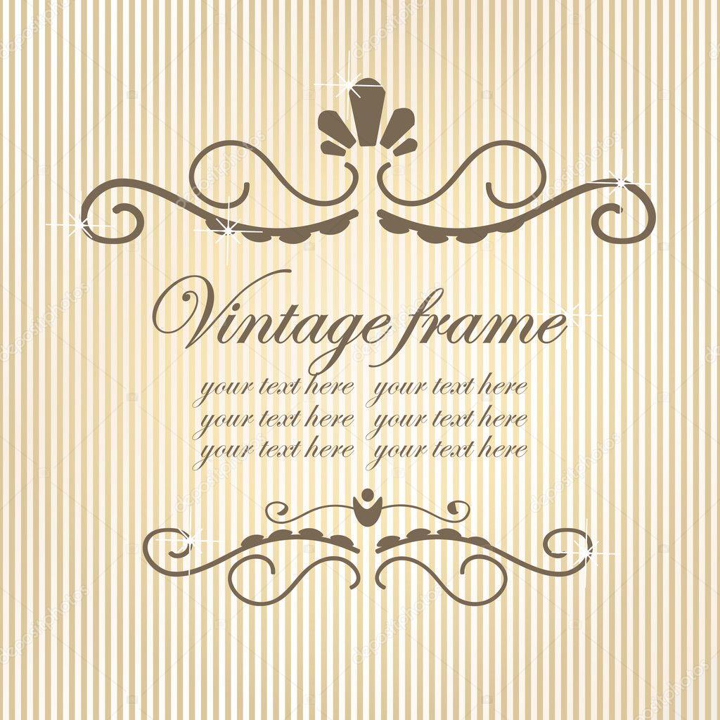 Vintage de marcos Imágenes Vectoriales, Ilustraciones Libres de ...