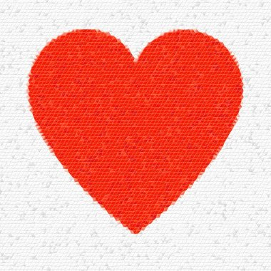 Heart Mosaic Triangles