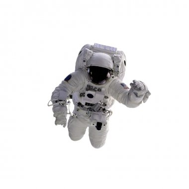 Spacecraft on the white background