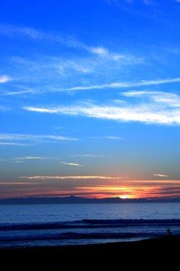 Sunset Ocean Blue