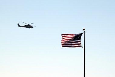 Usa flag helicopter