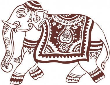 Indian domestic elephant design
