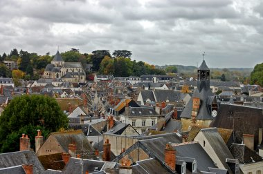 Roofs of a small city in France