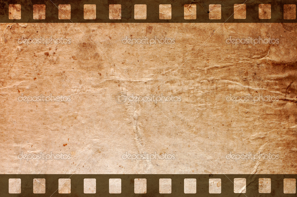 Retro grunge background with film strips stock photo for Retro images