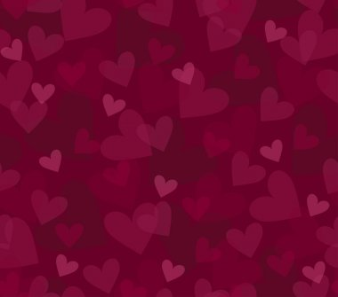 Seamless background with randomly placed hearts clip art vector