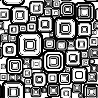 Seamless retro background from squares.