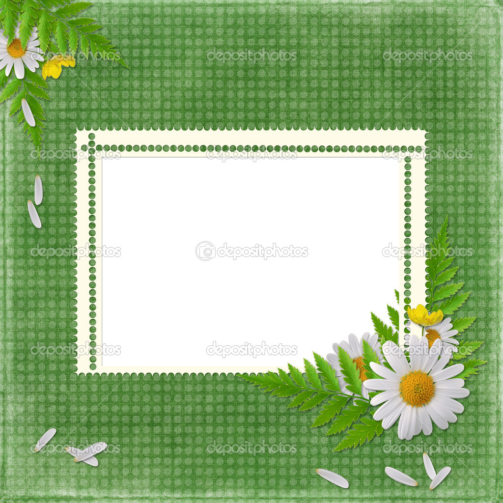 Card for the holiday with flowers