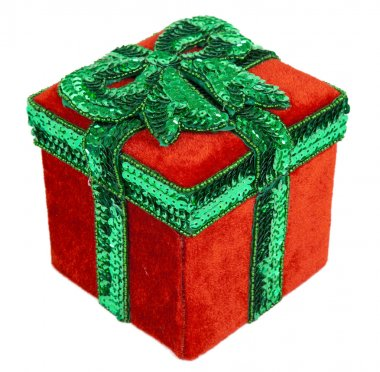 Red and Green Christmas Present Box