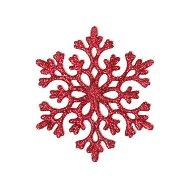 Red glitter snowflake