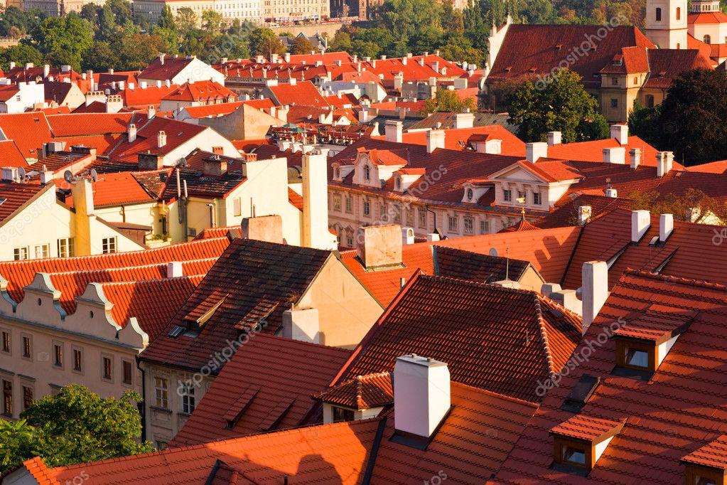Beautiful Red Roofs Of Prague U2014 Stock Photo #2292281