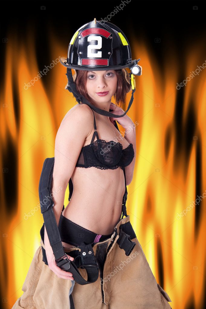 Sexy female fire fighter nude