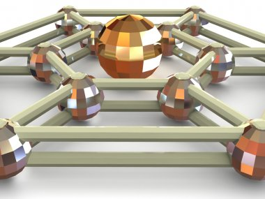 Three-dimensional graphic image. Sphere