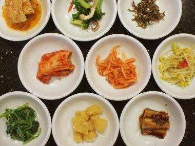 Appetizers in a Korean cuisine