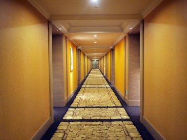 The corridor at the hotel guest room floor stock vector