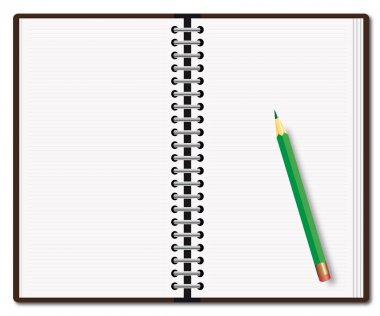 Diary with the pencil