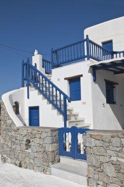 White-blue classic architecture