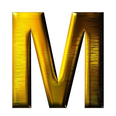 3D golden letter isolated