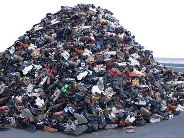 Heap of old footwear