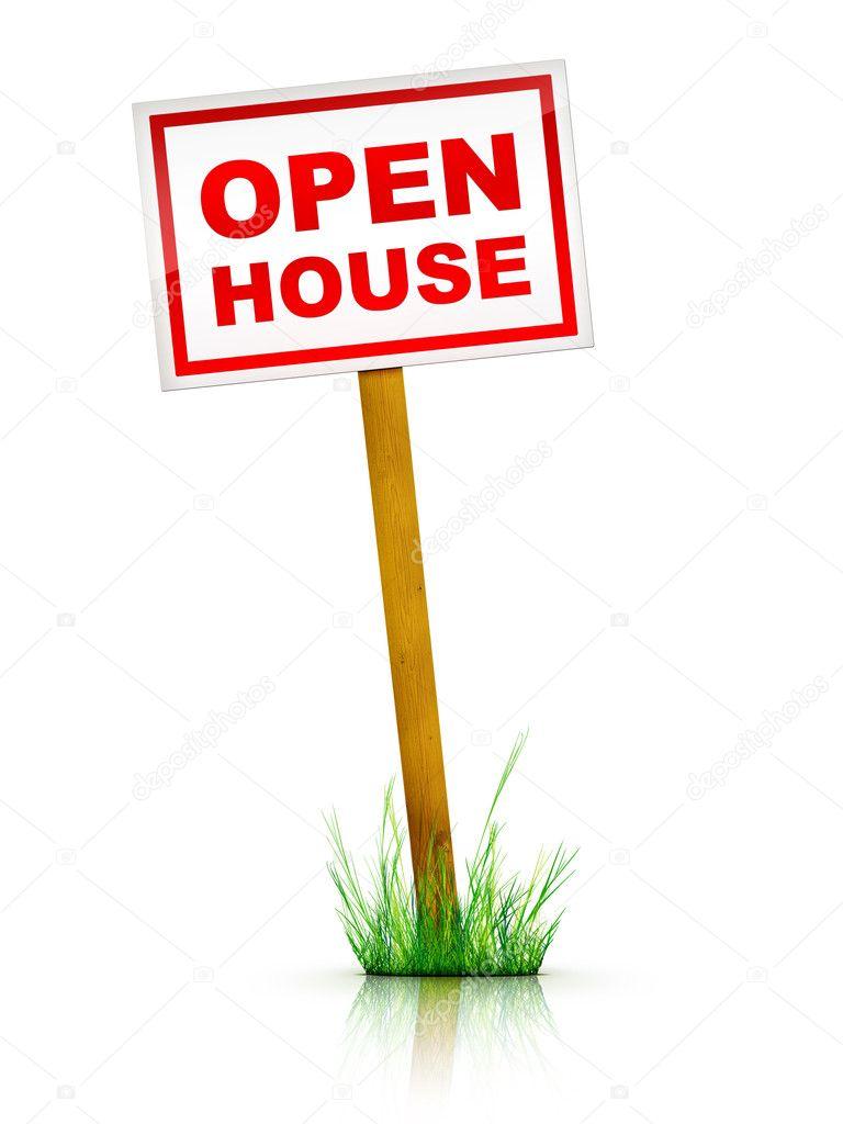 Sign open house stock photo rastudio 1348156 for Open house photos