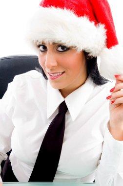 Christmas female smiling