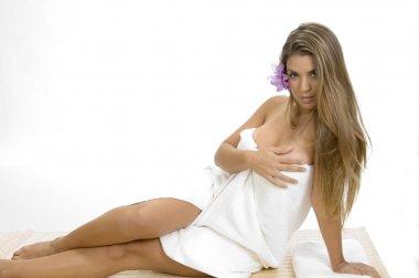 Gorgeous spa woman