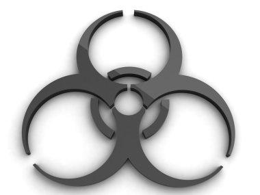 3d bio hazard icon