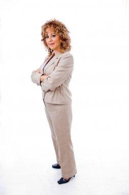 Senior female manager posing