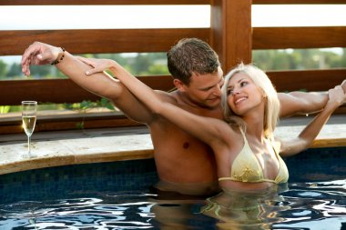 Love by the pool